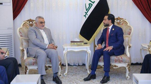 بروجردی در دیدار با رئیس پارلمان عراق: ایران در مسیر بازگرداندن ثبات به عراق حامی این کشور است